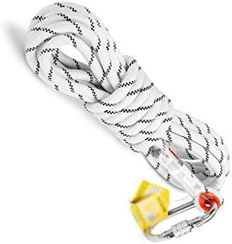 ZHWNGXO Polyester Seil, 12,5 mm Sicherungsseil Hitzebeständige Verschleißschutz-Weiche Belastbarkeit 25KN (Size : 30m)