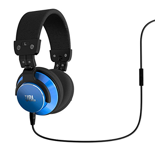 JBL BassLine Over-Ear DJ Style Headphones with In-line Mic & Controls (Blue)