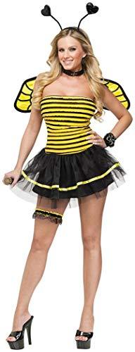Man In Bee Costumes Dancing On Subway - FunWorld Busy Bee, Black/Yellow, Small/Medium 2-8
