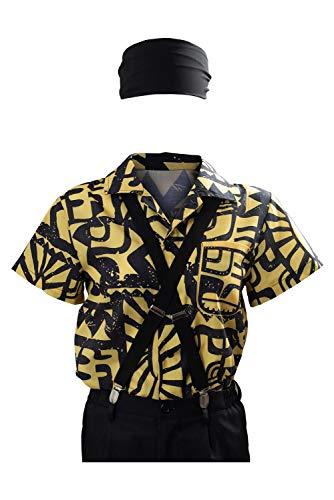 Aztec Costume Halloween (Eleven Battle Shirt Costume Season 3 Halloween Cosplay Casual Summer Short Sleeve Tops (M,)