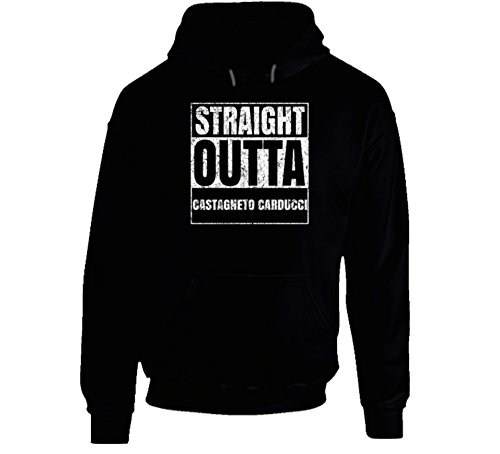 Straight Outta Castagneto Carducci Italian City Italy Town Worn Look Grungy Hoodie 2XL (Carducci Sweater)