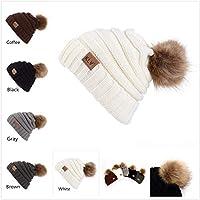 Winwintom Winter Wool Knit Ski Beanie Skull Slouchy Caps