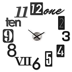 Umbra Numbra Wall Clock, Black