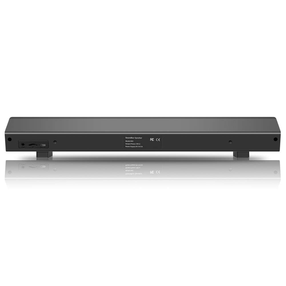Bluetooth Sound Bar,Wired and Wireless Home Theater TV Stereo Speaker, 2.0 Channel 2 X 5W Portable Sound Bars for TV/Cellphone/Tablet