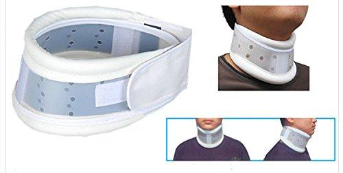 Pomcat Cervical Collar Traction Neck Brace Support Strap Lightweight Adjustable(Size: L) CJ375