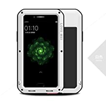 Love Mei Shockproof Waterproof Metal Aluminum Case For OPPO R9s Plus - White