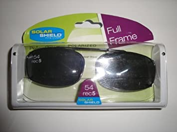 7ce780dbfe Image Unavailable. Image not available for. Color  Solar Shield 54 Rec 5  full frame gray Polarized Clip on Sunglasses