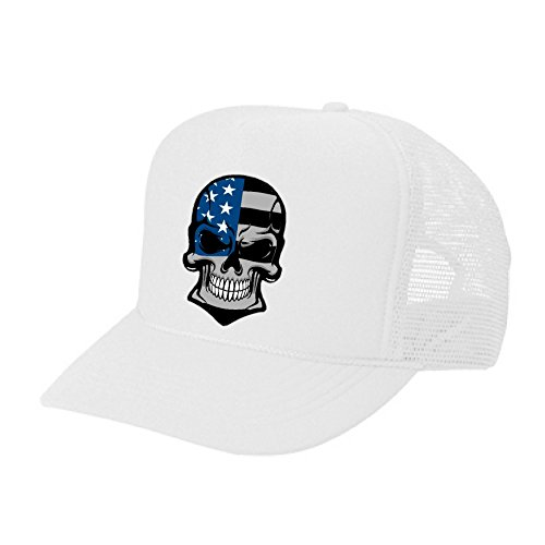 Cool USA Pride hat -American Subdued flag skull - cool stylish apparel accessories (WHITE) Confederate Flag Accessories