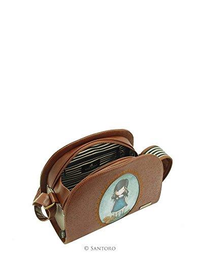 Gorjuss You Brought Me Love rilievo Rococo Borsa a tracolla a righe con tasche interne, 26x 21x 14cm Santoro