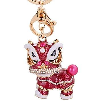 Llavero de metal con diseño de león bailando estilo chino ...