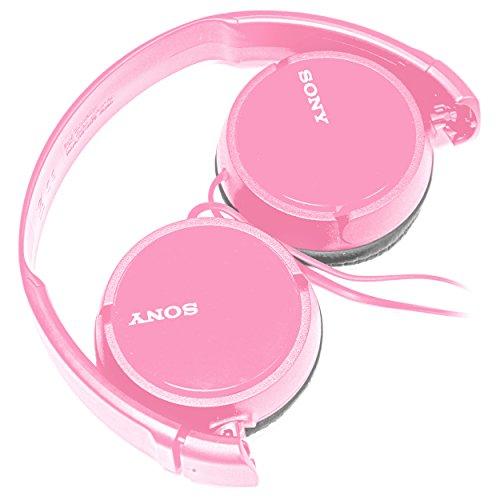 SONY Over Ear Best Stereo Extra Bass Portable Foldable Headphones Headset for Apple iPhone iPod/Samsung Galaxy/mp3 Player/3.5mm Jack Plug Cell Phone (Rose)