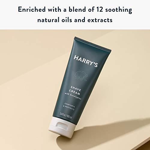 Harry's Shaving Cream – Shaving Cream for Men with Eucalyptus – 2 pack (3.4 oz)