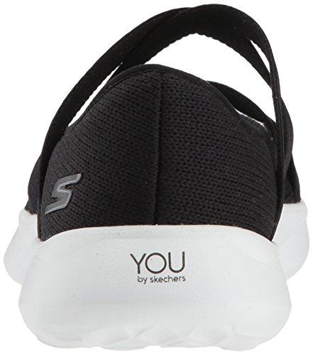 Blanco Cerrada con Skechers Bailarinas Elation Negro Serene Punta para Mujer Xwvqzg7v