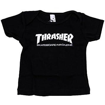 947061396eba Thrasher Skateboard Infant Toddler Skate Mag Black T Shirt: Amazon.co.uk:  Sports & Outdoors