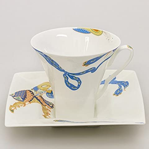 Imperial Porcelain - Indian Dance Teacup and Saucer Set, Porcelain