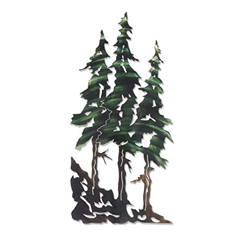Next Innovations 3D Metal Wall Art - Pine Tree Nature Wall Art - Botanical Art Handmade in The USA for Use Indoors or Outdoors (Art Trees)