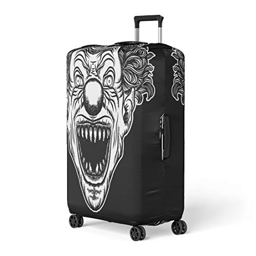 Pinbeam Luggage Cover Scary Clown Head of Circus Horror Film Character Travel Suitcase Cover Protector Baggage Case Fits 22-24 inches