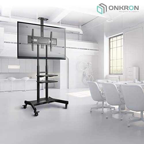 ONKRON Mobile TV Stand with Wheels Rolling TV Cart for 55 to 80 Inch LCD LED Flat Panel TVs (TS1881) by ONKRON (Image #7)