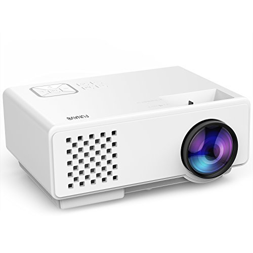 Mini Portable Projector, Funavo 1080P Full HD 170'' Screen LED Video Projector with 50,000 Hour Lamp Life, Supports Fire TV Stick, Smartphones, Laptops, XBOX, HDMI, VGA, SD and USB for Home Theater