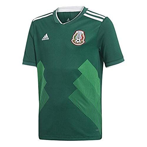 adidas Youth Mexico 2018 Home Replica Jersey Green/White L