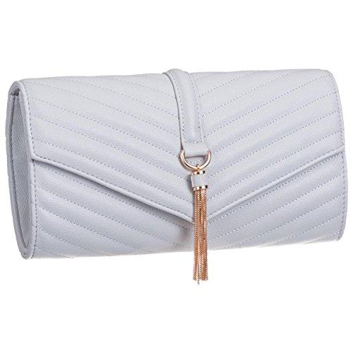 Tassel Prom Baguette Xardi Grey Ladies Clutch Leather Women Bags Evening Faux London Large Vintage qtwU8FPt