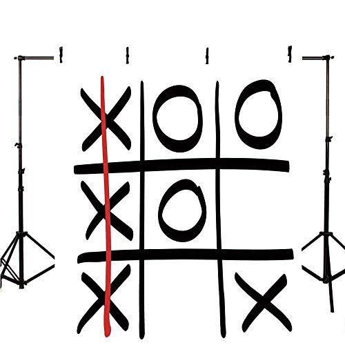 (Xo Stylish Backdrop,Popular Tic Tac Toe Game Pattern Hand Drawn Design Win Victory Finish Theme Decorative for Photography,118