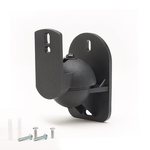TechSol Essential TSS1-B - 2 Pack of Black Universal Speaker Wall Mount Brackets