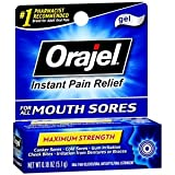 Special Pack of 5 ORAJEL DRY MOUTH AID 7115 3/16 oz