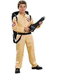 Ghostbuster Deluxe Child's Costume with Blow Up Proton Pack, Small by Rubie's