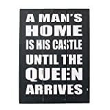 A Mans Home Is His Castle 40Cm Wooden Sign Vintage Style Wall Art Hanging