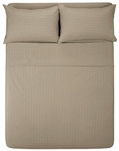 Angel Bedding Twin Size Sleeper Sofa Sheet Set (36 x 72 + 6 Deep) - Stripe Taupe 1800 Series Brushed Microfiber