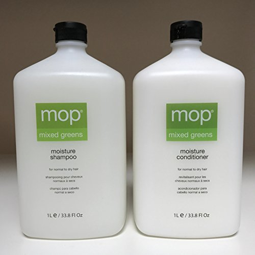 MOP Mixed Greens Moisture Shampoo and Conditioner 1L / 33.8 fl oz - DUO SET