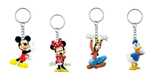 Pvc Key Ring - Disney Figural PVC Key Ring (MK, MN, Goofy, D) (4 Pack)