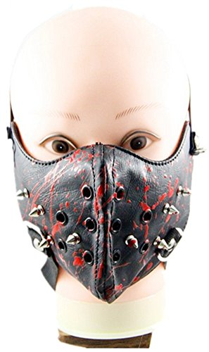 Punk family Men and women new punk show rivet rock mask personality motorcycle mask by Punk family