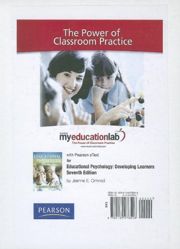 MyEducationLab with Pearson eText -- Standalone Access Card -- for Educational Psychology (myeducationlab (Access Codes)