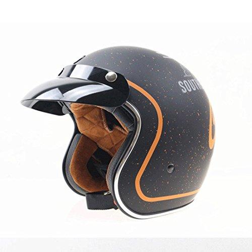 DGF ヘルメットレトロオートバイ内蔵レンズハレークルーズヘルメット機関車サンシェード軽量ヘルメットハーフヘルメット (色 : B, サイズ さいず : M) B07FM8LVRF Medium|B B Medium