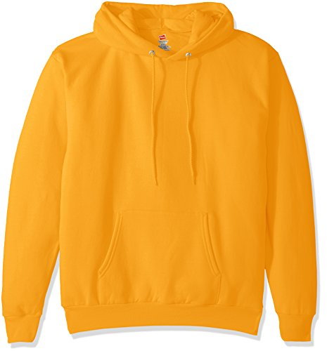 Hanes Men's Pullover EcoSmart Fleece Hooded Sweatshirt, Gold, X Large