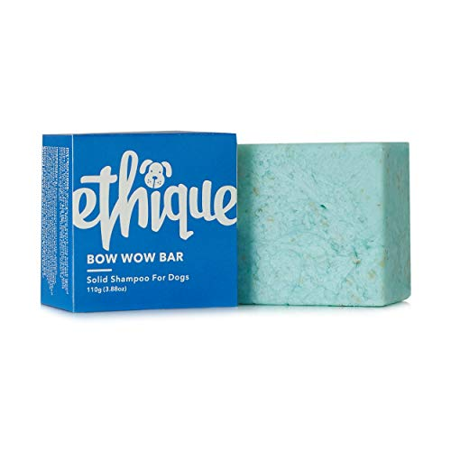 Ethique Eco-Friendly Dog Shampoo for All Dogs, Bow Wow - Sustainable Natural Dog Shampoo, Plastic Free, 100% Soap Free, Vegan, Plant Based, Palm Oil Free, 100% Compostable and Zero Waste, 3.88oz