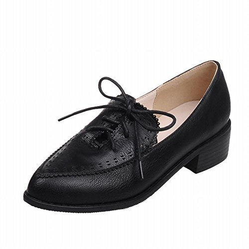 a3ee8cf91a Latasa Women's Fashion Lace-up Pointed-toe Mid Chunky Heel Oxfords Shoes 60%