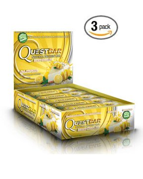 Quest Protein Bar Bundle, Lemon Cream Pie, 12 Count Boxes, 3 Pack by Quest Nutrition