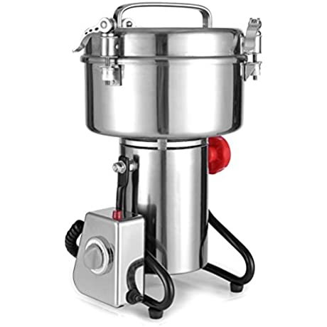RRH Stainless Steel Grain Grinder Mill Powder Machine Swing Type Commercial Electric Grain Mill Grinder For Herb Food Grade 1000g