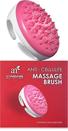 ArtNaturals Cellulite Massager Brush and Mitt - Natural Solution for Eliminating and Removing Cellulite on Arms, Legs, Thighs & Body - Ergonomic Design for Gentle & Effortless Massaging & Exfoliating