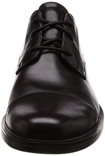 Black Stringate Aldric Uomo Scarpe Un Nero Derby cap Clarks Leather Oq8CwHxIZ5