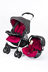 Graco Travel System Stroller, Car Seat With Bag, Pink, Pack of 1