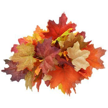 - Fall Floral Garden 6-Stem Maple Leaf Bushes, 10 in. Artificial Flowers Autumn Thanksgiving Scarecrow Harvest Pumpkin Leaves Decorations