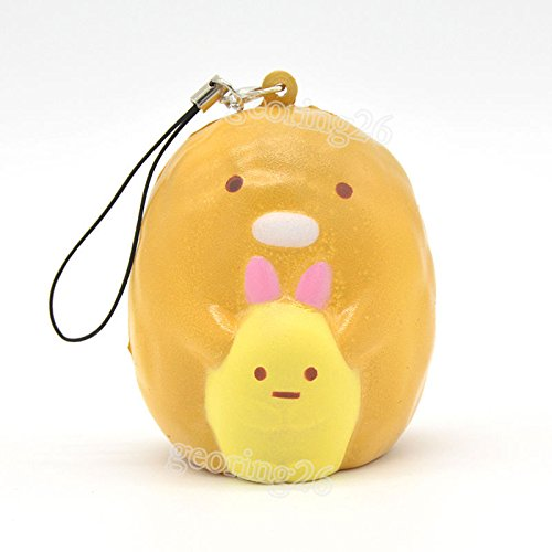 [Cute Squishy Sumikko Gurashi Pig Cartoon Cellphone Straps Charm Soft Toy Fun] (Cute Slimer Costumes)