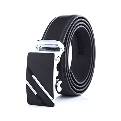 Belt,Itomoro Men's Genuine Leather Belt-Ratchet Dress Belt with Automatic Buckle 35mm 1 3/8