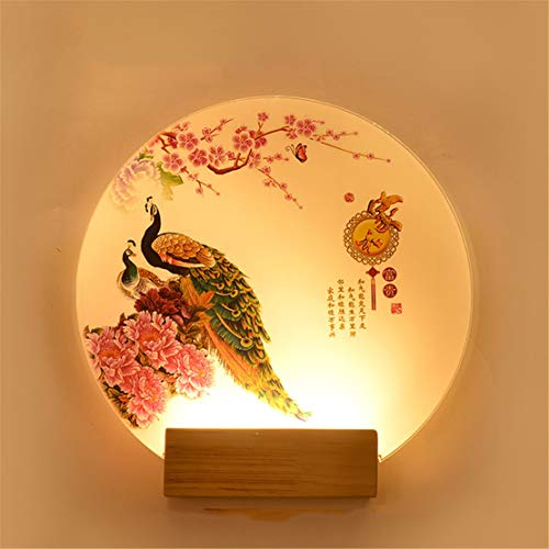 (Wall Lights Romantic Simple Modern Creative Bedroom Bedside Wall Mural lamp, A11-2830cm)
