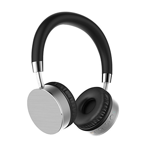 Price comparison product image Otium Wireless Bluetooth Headphones - Stereo Bass On-Ear Headsets with AUX Input Bulit in Mic - Wired Over-Ear Headphones
