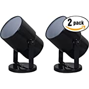 "Mainstays 7.5"" Spotlight Accent Lamp, Black Finish (Pack of 2)"